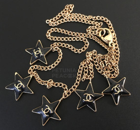 CHANEL BLACK STAR LOGO NECKLACE