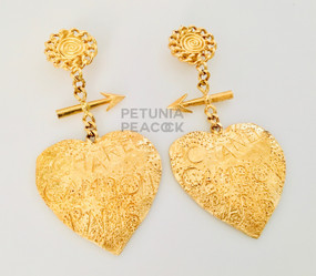 CHANEL GRAFFITI HEART EARRINGS