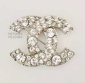 CHANEL CRYSTAL FILLED BROOCH
