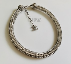 CHANEL RUNWAY CRYSTAL TUBE CHOKER NECKLACE