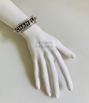 CHANEL ARM CUFF CRYSTAL BRACELET