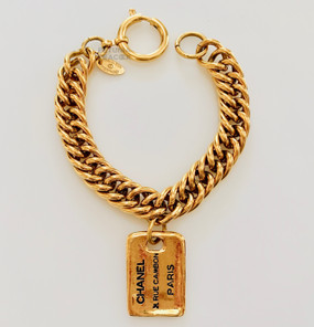 CHANEL 31 RUE CAMBON DOG TAG BRACELET