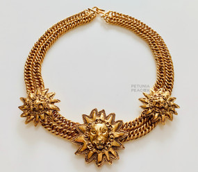 CHANEL LION MEDALLION NECKLACE