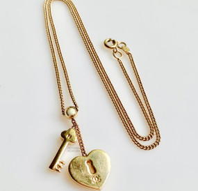 CHANEL BALL & CHAIN LOVE LOCK NECKLACE