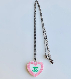 CHANEL DOUBLE SIDED SWEETIE HEART NECKLACE