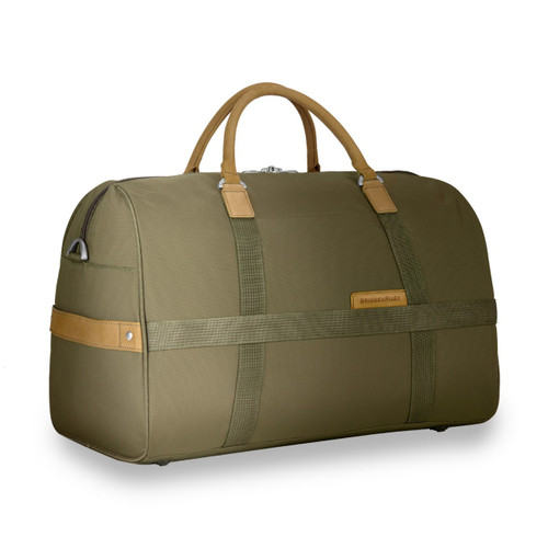 Side Angle shot of the duffel bag.