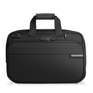 Front of Expandable Cabin Bag by Briggs & Riley in black.