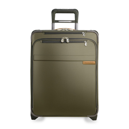 Front shot of International Carry-On Expandable Wide-Body Upright in olive.