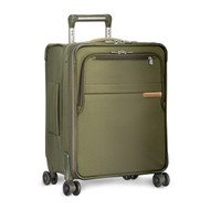 Side shot of International Carry-On Expandable Wide-Body Spinner in olive.