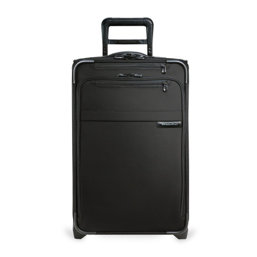 Front shot of Domestic Carry-on Expandable Upright in black.