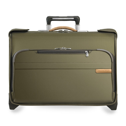 Front shot of Carry-On Wheeled Garment Bag in olive.