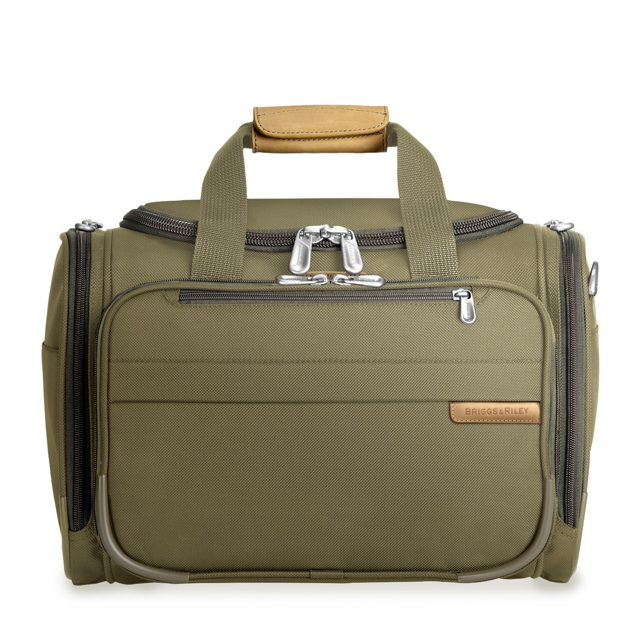 dfd063ffec Front shot of Cabin Duffle in olive.