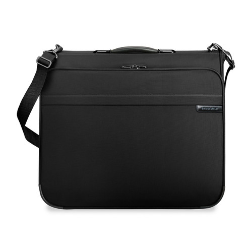Front shot of Deluxe Garment Bag in black.