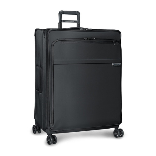 Side shot of Extra Large Expandable Spinner in black.