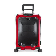 Front shot of International Carry-On Spinner in ruby.