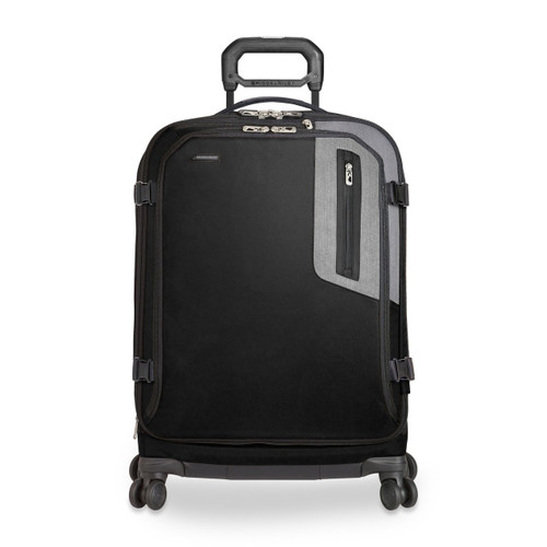 Front shot of Explore Medium Expandable Spinner in black.