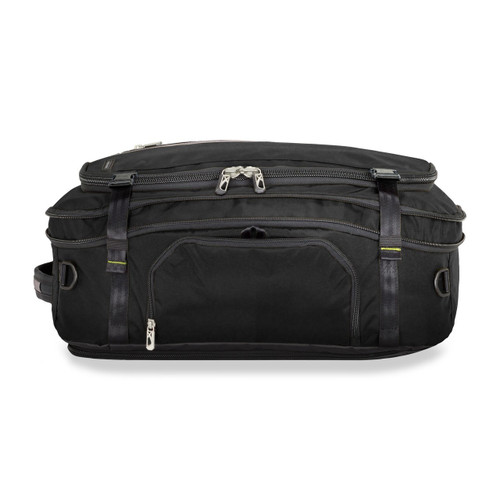 Front shot of Exchange Medium Expandable Duffle in black.
