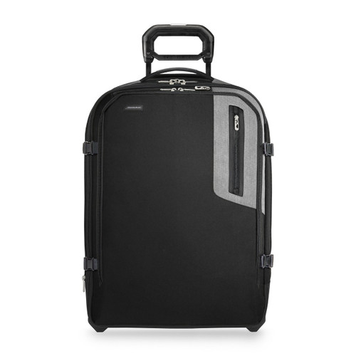 Front shot of Explore Medium Expandable Upright in black.