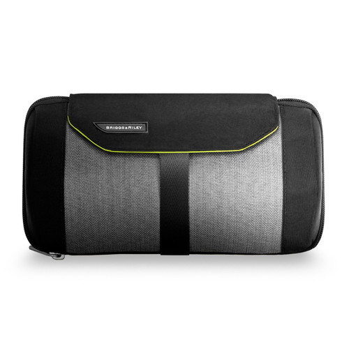 Front shot of Express Toiletry Kit in black.