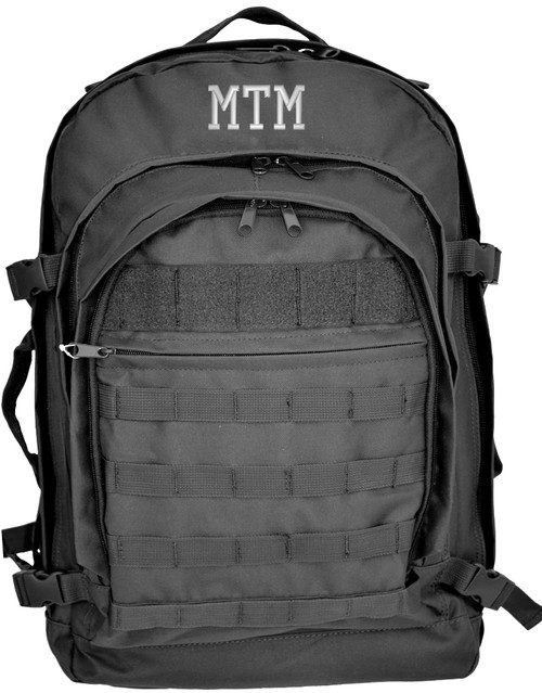 Deluxe Large Tactical Backpack with initials