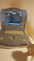 GE Logiqbook XP Enhanced Ultrasound with 2 transducers with New Battery