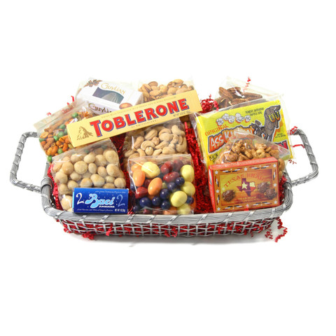 AustiNuts Silver Basket For Him Show You Care With This Custom Gift Especially