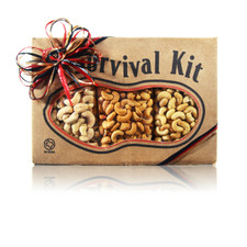 austiNuts Cashewmania Survival Kit are for Cashew Lovers Everywhere!  Contains: Salted Cashews, Garlic Cashews, & Cayenne Cashews