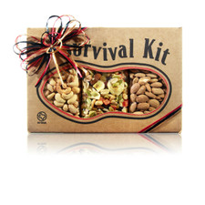 austiNuts Survival Kit-Hostess lets you become the BEST host or hostess for your next party with this great mix!  Contains: Salted Cashews, Salted Almonds, & Trail Mix