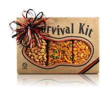 austiNuts Survival Kit - Texas Heat has a Great bold flavor for snack time!   Contains: Cayenne Cashews, Hot & Spicy Peanuts, & South of the Border Mix