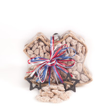 austiNuts Texas Shaped Basket with our famous Praline Pecans.
