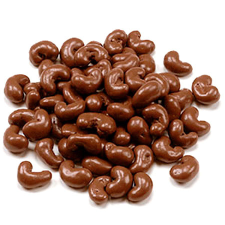 austiNuts Milk Chocolate Cashews are perfect for Chocolate Lovers!  Contains: Pure Milk Chocolate, Cashews, Sugar, Confectioner's Glaze Price per 1lb.