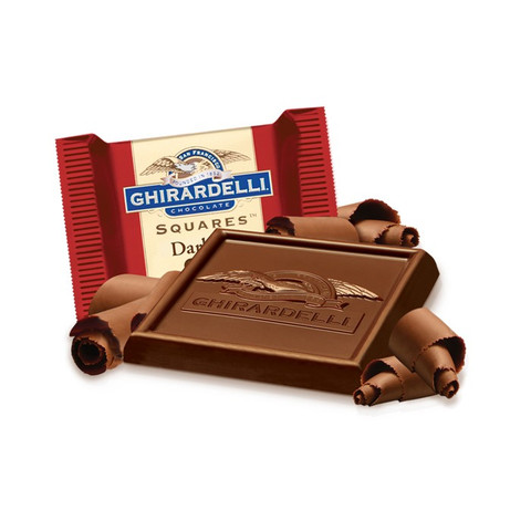 austiNuts carries Ghirardelli® Dark Chocolate Squares to help you complete your perfect gift basket, care package, or if you are just in the mood for dark chocolate.  Pure, intense 60% Dark Cacao chocolate decadence. Our Dark 60% Cacao SQUARES make a sweet treat for all the chocolate lovers in your life and show you've got great taste.