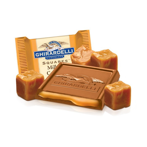 austiNuts carries Ghirardelli® Milk Chocolate Square w/Caramel Filling to help you complete your perfect gift basket, care package, or if you are just in the mood for chocolate.  Ghirardelli's best selling Milk & Caramel SQUARES chocolates. Show you've got great taste by serving them at your next dinner party or giving them as a gift to a friend or coworker.