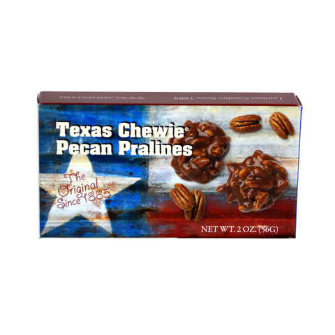 austiNuts carries Texas Chewie Pecan Pralines to help you complete your perfect gift basket, care package, or if you are just in the mood for chocolate.   Rich, buttery caramel surrounding large Texas pecans creates a sweet and nutty combination.
