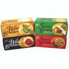 austiNuts Gourmet water and savory crackers are a delicous thin and crisp treat, right from the box or perfect served with hors d'oeuvres. These crackers have been praised for their natural flavor and crisp texture.  Weight 2.2 oz