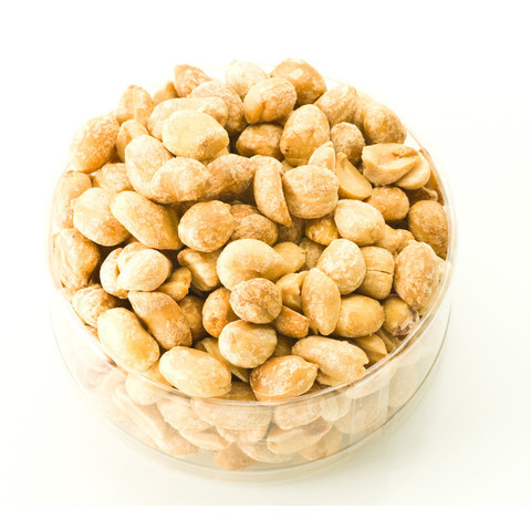 Peanuts | Dry Roasted Peanuts | Peanuts in a clear container