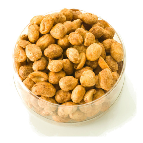 austiNuts Hot & Spicy Totally Nut Mix doesn't mess around! Don't believe us? Come try it today! Water recommended.   Contains: Dry Roasted Peanuts, Roasted Pumpkin Kernels, Hot & Spicy Peanuts, Hot & Spicy Pumpkin Kernels