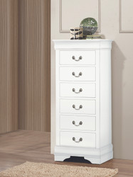 White Finish Louie Lingerie Chest