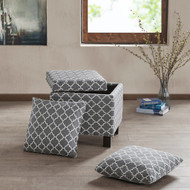 SHELLEY GREY STORAGE OTTOMAN