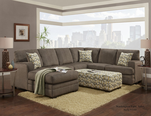 HILLEL PEWTER 2PC SECTIONAL
