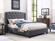 QUEEN GREY EVA BED