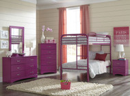 TWIN RASPBERRY BUNK BED