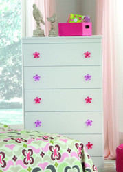 Savannah White 5 Drawer Chest