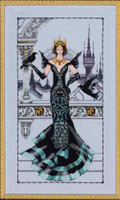 Raven Queen Kit Cross Stitch Chart Fabric Beads Silk Floss Braid Nora Corbett Mirabilia MD139