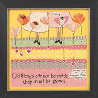 Old Friends Beaded Counted Cross Stitch Kit Mill Hill Curly Girl 2015