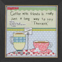 Coffee With Friends Beaded Counted Cross Stitch Kit Mill Hill Curly Girl 2015