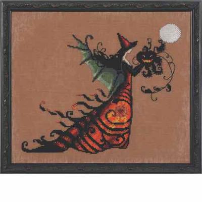 Electra Kit Cross Stitch Chart Fabric Beads Nora Corbett Mirabilia Designs NC219