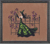 Gwen Kit Cross Stitch Chart Fabric Beads Nora Corbett NC220 Mirabilia Designs