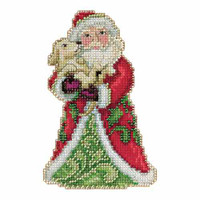 Best Friend Santa Beaded Counted Cross Stitch Kit Mill Hill 2015 Jim Shore JS205106
