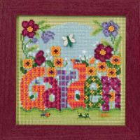 Garden Cross Stitch Kit Mill Hill 2016 Buttons & Beads Spring MH141616